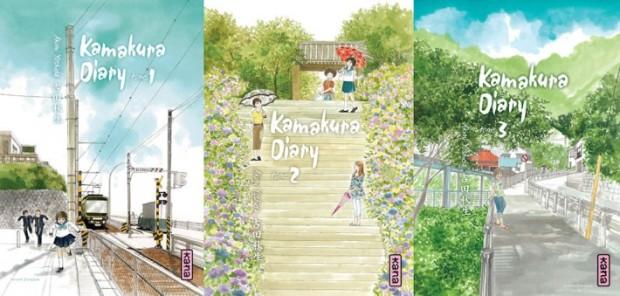Couvertures des trois premiers tomes du manga